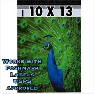 25 10X13 Peacock Poly Mailers PRICE IS FIRM